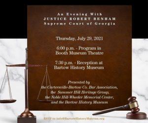Celebration of Justice Robert Benham @ Booth Museum & Bartow History Museum